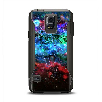 The Neon Colored Paint Universe Samsung Galaxy S5 Otterbox Commuter Case Skin Set