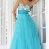 STOCK New Hot Light Blue Prom Party Bridesmaid Evening Dress Size6-8-10-12-14-16