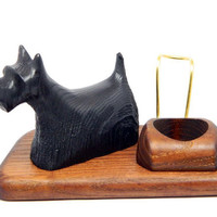 "Exclusive Wooden Pipes Stand ""SCOTCH TERRIER"" for Tobacco Smoking Pipes. Handmade. Handmade Ash-Tree"