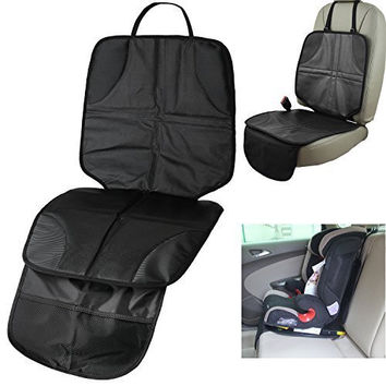 ISUDA Child Car Seat Protector, Ideal If Using with Convertible Car Seat or infant seats, Fit For All Types Of Car Seats