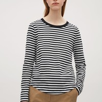 Long-sleeve cotton t-shirt - Navy - Tops - COS US
