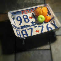 "Upcycled Texas License Plate Bowl ""The Lone Star State"""