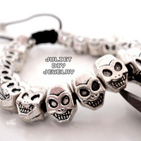 Pirate skull bead bracelet from Urban Zen Jewelry Boutique