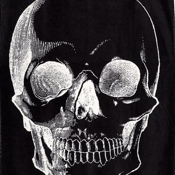 Gothic Room Blanket - Goth Skull Dark Side Blanket - Black