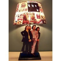 Custom Made BEATLES Record Lamp Shade and Lamp base by CreativePal