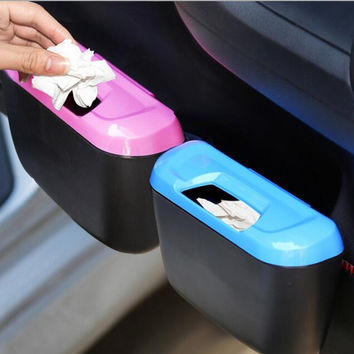 Newest Fashion Mini Car Auto Rubbish Dustbin Trash Can Garbage Dust Case Box Car Storage Case Car Trash Bin