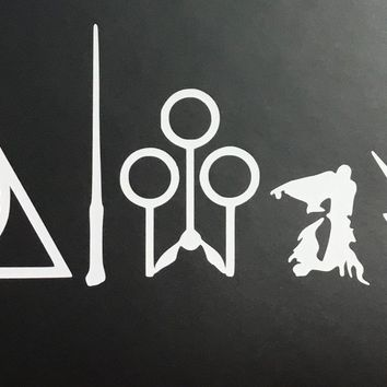"CMI187 Always Harry Potter WHITE Vinyl Car/Laptop/Window/Wall Decal | 8.75"" x 4.5"""