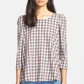 The Great 'The Darling' Plaid Cotton Shirt | Nordstrom