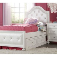 2830 Madison - Complete Upholstered Bed - Full With Underbed Storage Drawer