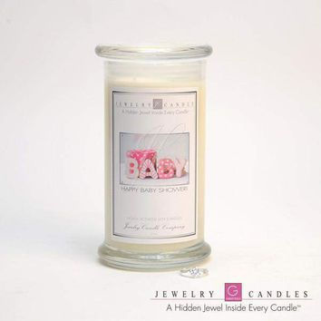 Happy Baby Shower (Girl) Jewelry Greeting Cards Candles