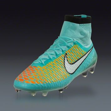Nike Magista Obra FG - Hyper Turq/White/Laser Orange Firm Ground Soccer Shoes