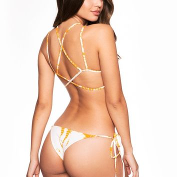 Frankies Bikinis Marley Bottom - Orange Crush Tie Dye