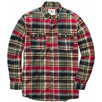Field Flannel Shirt in Red by Southern Proper