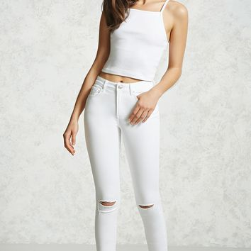 Split Knee Super Skinny Jeans