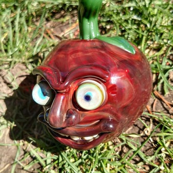 Apple Monster Glass Pipe