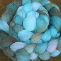 Hand Dyed Shetland Combed Top - INTO THE DEEP - 4 oz
