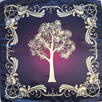 """Wiccan Tree of Might Nature 22""""x22"""" Cloth Wicca Pagan Witch Shawl"""