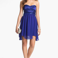 Hailey Logan Embellished Fit & Flare Dress (Juniors) (Online Exclusive) | Nordstrom