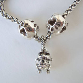 Brighton Bulldog Pug Charm Necklace Designer Jewelry