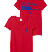 Texas Rangers V-Neck Tee - PINK - Victoria's Secret