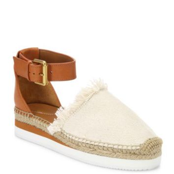 See by Chloé - Glyn Suede Ankle-Strap Platform Espadrilles