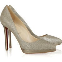 Christian Louboutin pigalle plato 120 metallic canvas pumps [2011072225] - $189.00 : Christian Louboutin Shoes On Sale, Enjoy 75% Off The Shoes Outlet!