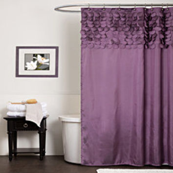 Lush Decor Lillian Purple Shower Curtain | Overstock.com