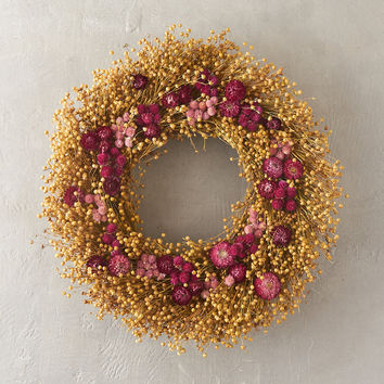 Strawflower & Amaranth Wreath