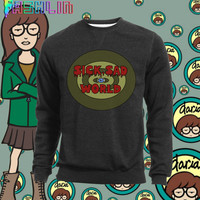KAWAII Sick Sad World MTV 90s Daria Sweatshirt // Pastel Grunge // Pastel Goth // fASHLIN