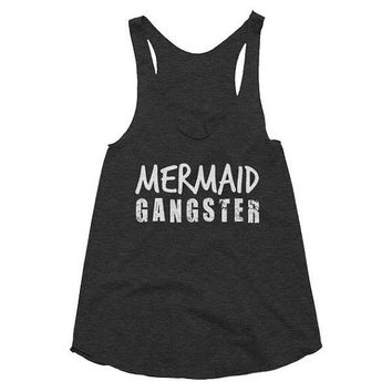 Mermaid Gangster, racerback tank, Gym Tank, Yoga Top, meditation, gift, workout, meditation, pilates, hot yoga funny