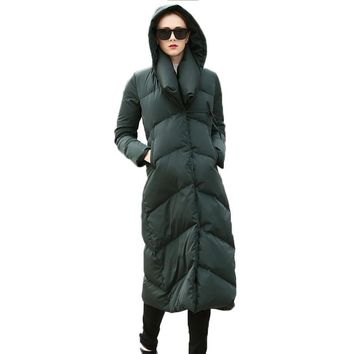 Thickening Long Winter Women Down Jacket Winter Women Goose Down Coat Jacket Winter Warm High Quality Woman Down Parka Coat