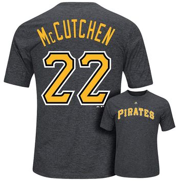 Majestic Pittsburgh Pirates Andrew McCutchen Player Name and Number Synthetic Tee