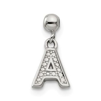Sterling Silver Mio Memento Dangle Letter Initial Charm - Various A to Z