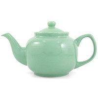 Windsor Ceramic 6 Cup Teapot in Blue, Pink, Green, & White