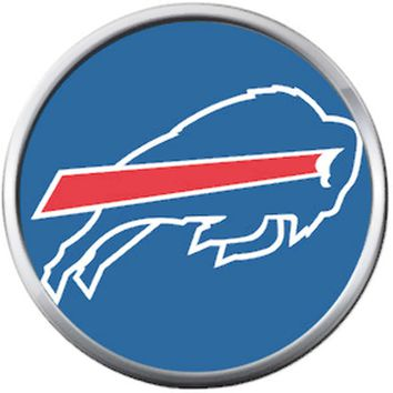 NFL Buffalo Bills Blue Buffalo Team Spirit Football Lovers 18MM - 20MM Snap Charm Jewelry