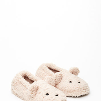 Faux Shearling Bear Slippers
