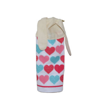 ValentineTowel, Microfiber Towel, Valentine's Day, Kitchen Hand Towel, Paperless Towel, Tea Towel, Eco Towel,  Hanging Towel, Heart Decor