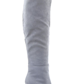 Jade Over The Knee Boots - Grey