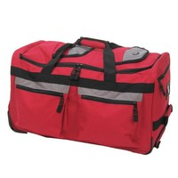 "Olympia Luggage 26"" 8 Pocket Rolling Duffel Bag"