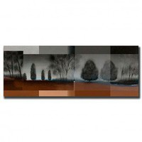 """Trademark Global Gray Mist by Miguel Paredes, Canvas Art - 24"""" x 10"""" - MP0578-C1024GG - Decor"""