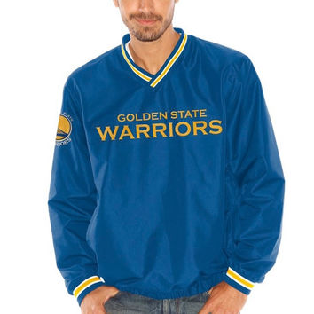 Golden State Warriors Stop & Go Lightweight Pullover Jacket – Royal Blue