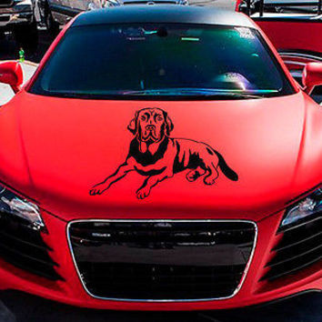 Car Hood Vinyl Decal Graphics Stickers Art Pets Breed Labrador Retriever KJ1364
