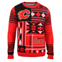"""Calgary Flames Official Men's NHL """"Ugly Sweater"""" by Klew"""
