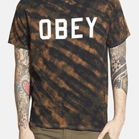 Men's Obey 'Collegiate' Graphic Tie Dye T-Shirt