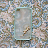 golden gecko gekko phone case super thin clear frosted hard back and silicone TPU soft edge iPhone 5 4 4s samsung s4 i9500 note2 love gifts