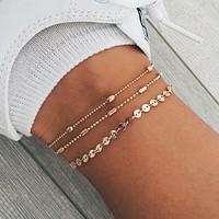 Sequins Beaded Ankle Bracelet