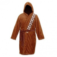 Star Wars Brown Fleece Chewbacca Sleepwear Hooded Robe
