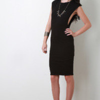 Women's Casual Open Arms Midi Dress