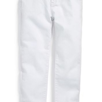 Girl's Burberry White Skinny Jeans