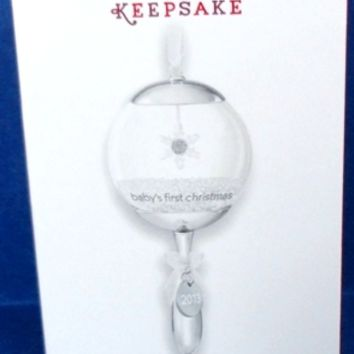2013 Baby's First Christmas Rattle Hallmark Retired Ornament